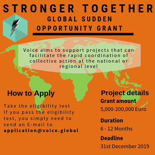Call For Proposal(s) Voice Stronger Together! Global