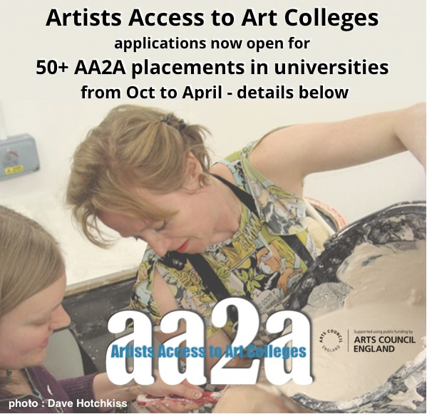 AA2A Artists & Designer-Maker Placements 2019 at Host