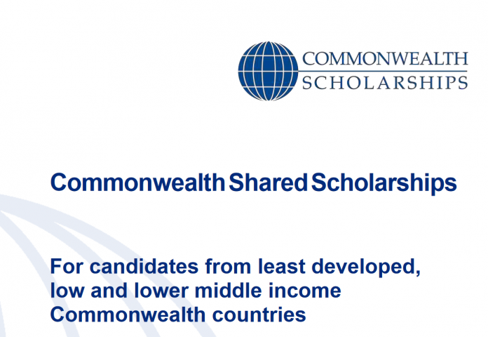 Master's Scholarships 2021 lower and upper middle income Commonwealth Countries