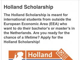 Holland Government Scholarships 2021/2022 for International Students