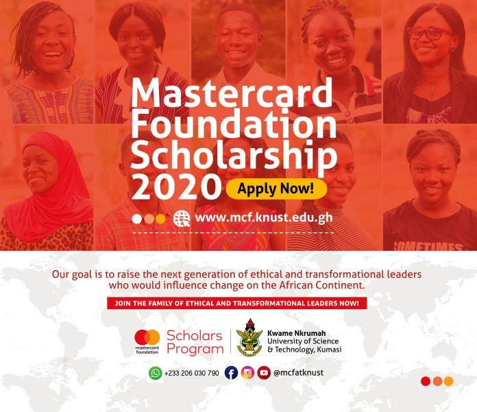 Mastercard Foundation Scholars Program 2020/2021 at Kwame Nkrumah University of Science and Technology (KNUST) for Africans
