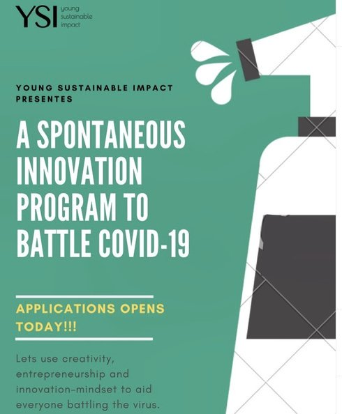 2020 Young Sustainable Impact (YSI ) Innovation Program-19 to solve problems related to the Coronavirus (covid-19) crisis