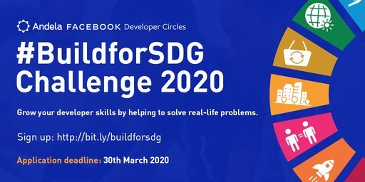 Andela Facebook #BuildForSDG Challenge 2020 for Young African Developers