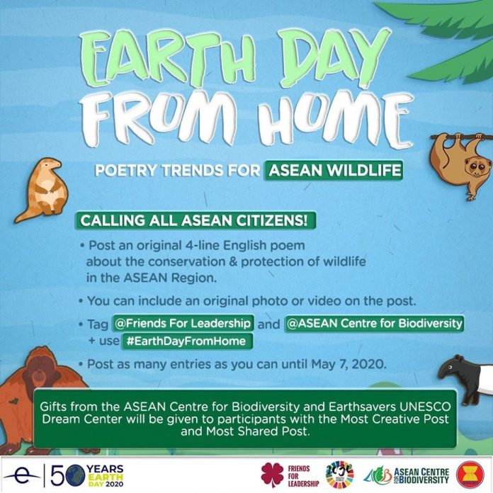 Earth Day From Home Poetry Trends for ASEAN Wildlife Contest