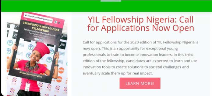 Young Innovation Leaders Fellowship Programme (YIL) 2020 Application for Nigerians