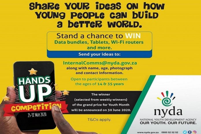 National Youth Development Agency (NYDA) Hands Up Competition 2020 for south africans