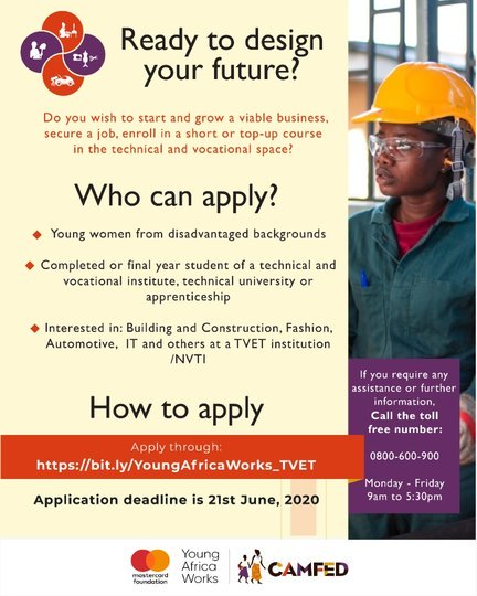 YOUNG AFRICA WORKS PROGRAM – Technical and Vocational Education and Training (TVET)