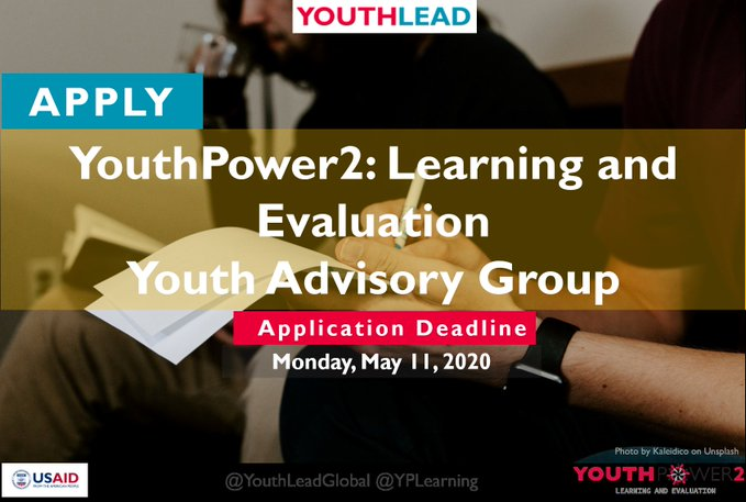 YouthPower Youth Advisory Group 2020 for young Changemakers