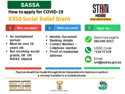 Covid 19 Social Relief of Distress Grant - srd.sassa.gov.za (Apply online)