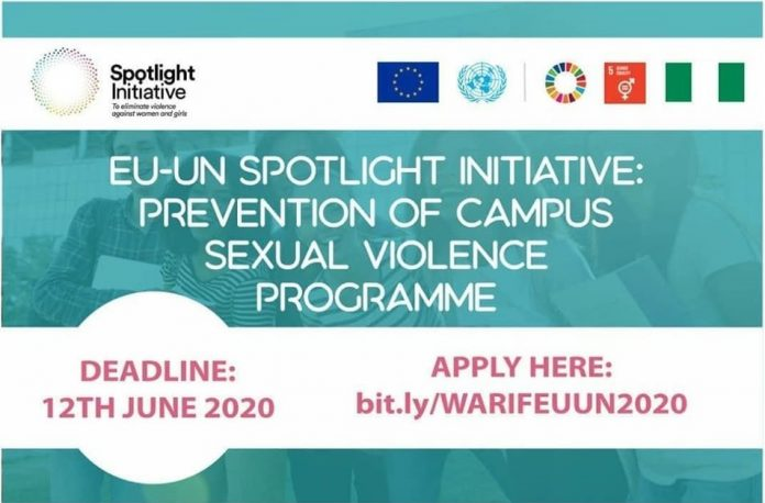 EU-UN Spotlight Initiative-Prevention of Campus Sexual Violence Programme for Nigerians