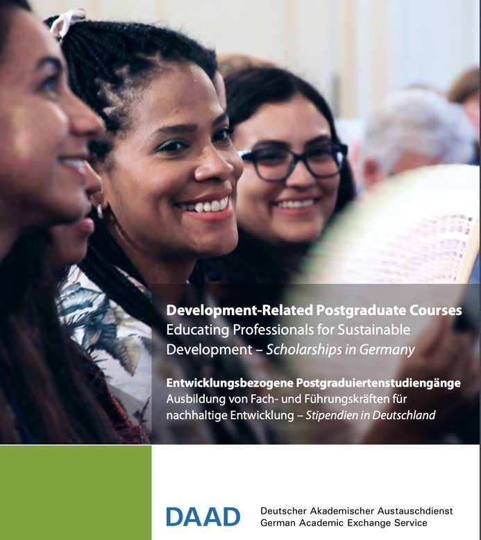 German Academic Exchange Service (DAAD) Development-Related Postgraduate Scholarships 2021-2022