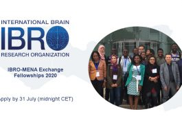IBRO-MENA (Middle East and North Africa Region) Exchange Fellowship Program 2020