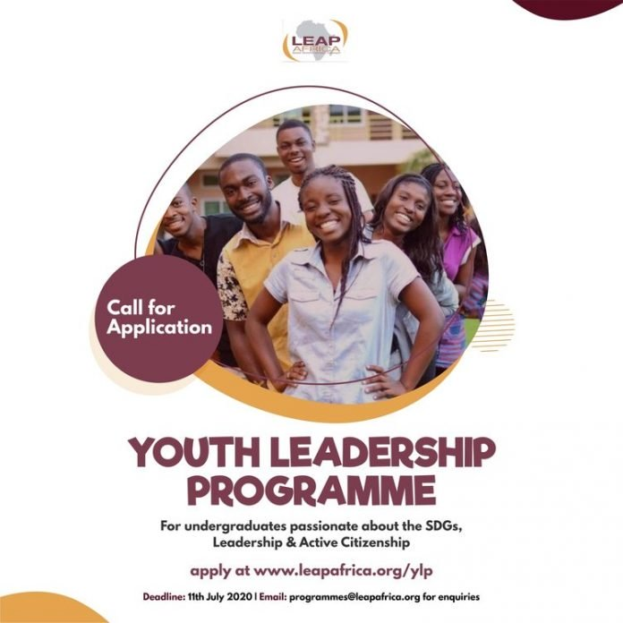 Leap Africa Youth Leadership Programme for Nigerian Undergraduate Students 2020