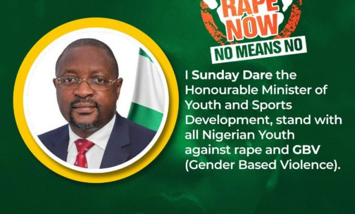Minister of Youth and Sports Development launches #NigerianYouthAgainstRape'