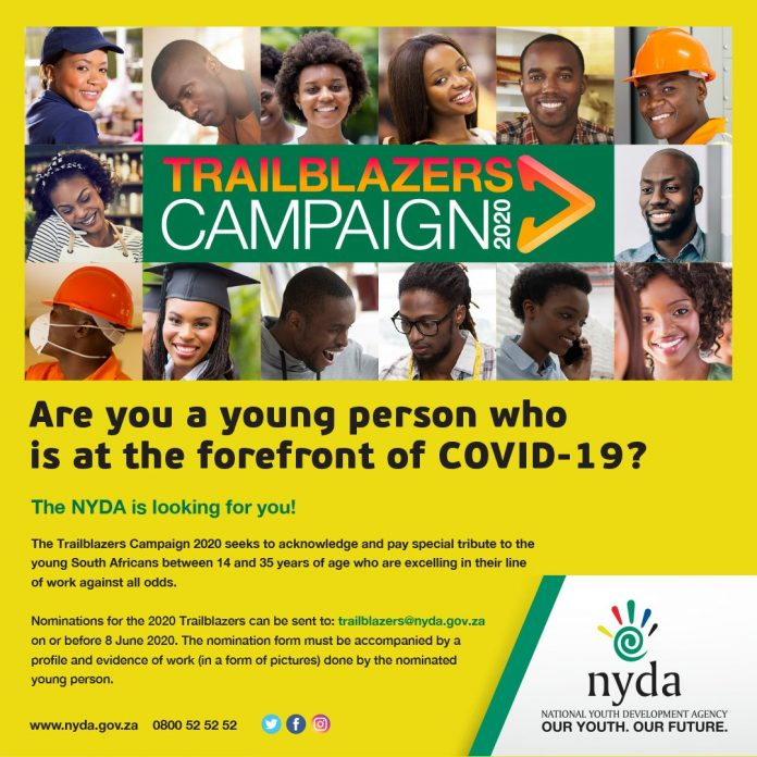 NYDA TRAILBLAZERS COVID-19 CAMPAIGN 2020 FOR YOUNG SOUTH AFRICANS