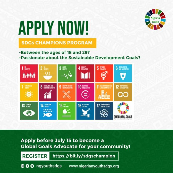 Nigeria Youth SDGs (NGYouthSDGs) Champions Program 2020