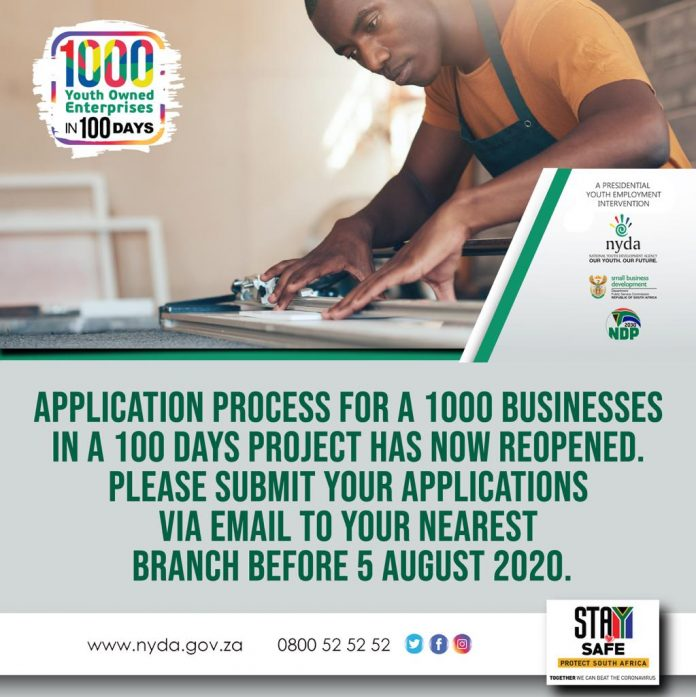 1000 Youth-Owned Enterprises in a 100 days' Presidential Intervention program 2020 for South Africans