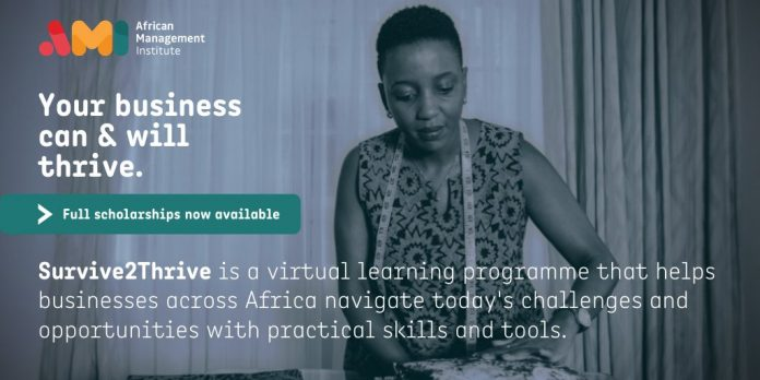 African Management Institute (AMI) Survive to Thrive Virtual Programme Application 2020