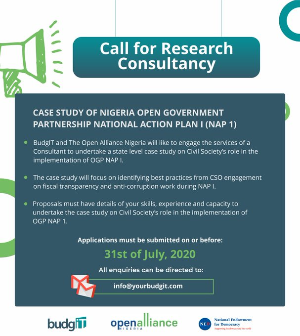 BudgIT Nigeria Call for research consultant