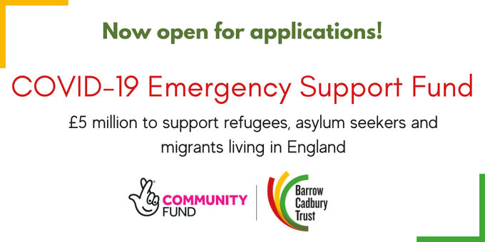 England COVID-19 Support Fund Application for Refugees, Asylum Seekers & Migrants