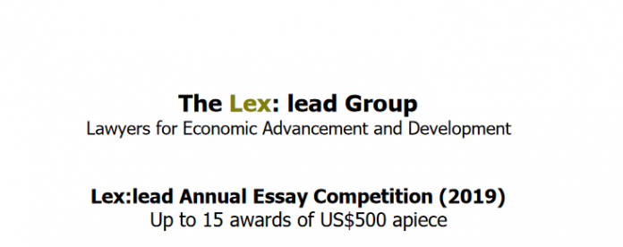 Lex:lead Essay Competition 2020 for Students in Developing Countries
