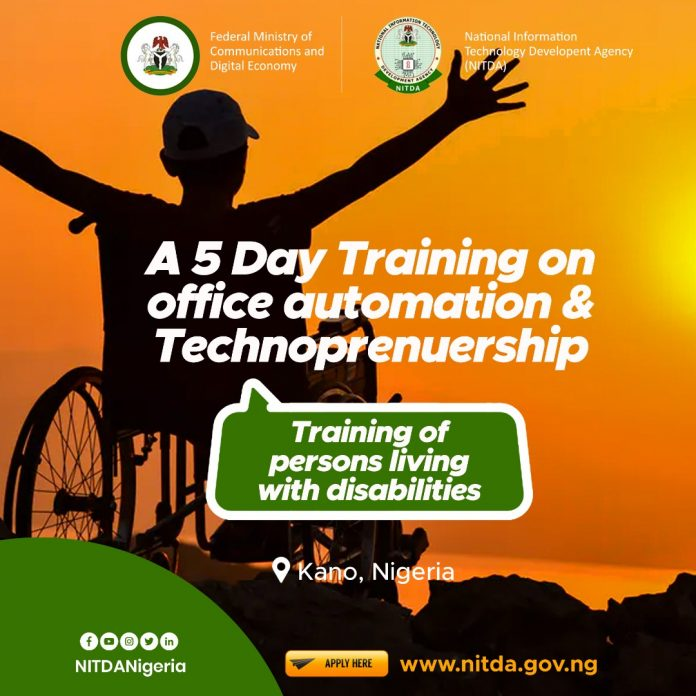 NITDA ICT Training For Persons Living With Disability in Kano State 2020