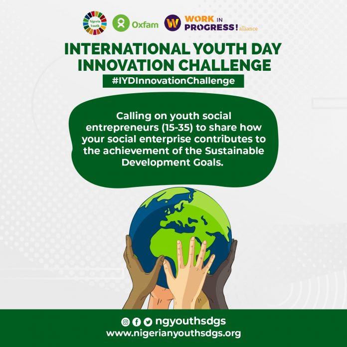 Oxfam Nigeria/NGYouthSDGs International Youth Day Innovation Challenge 2020