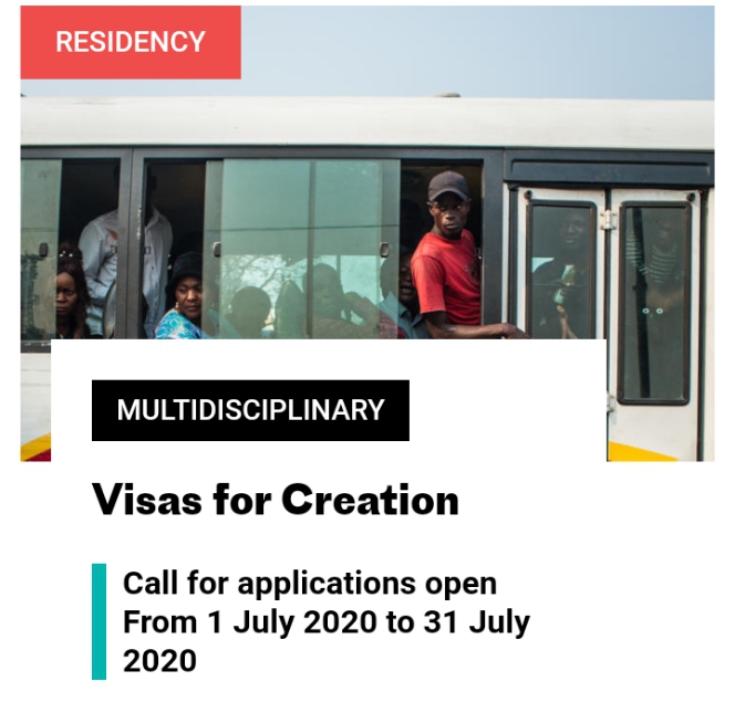 Visas for Creation Application 2020 for Artists and Curators in Africa & Caribbean