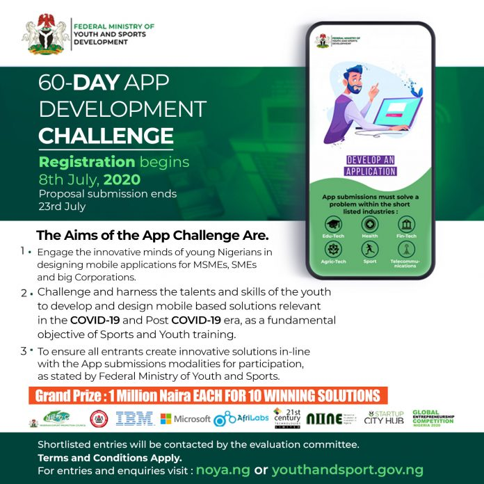 Sixty-Day App Challenge for Nigerian Youths 2020