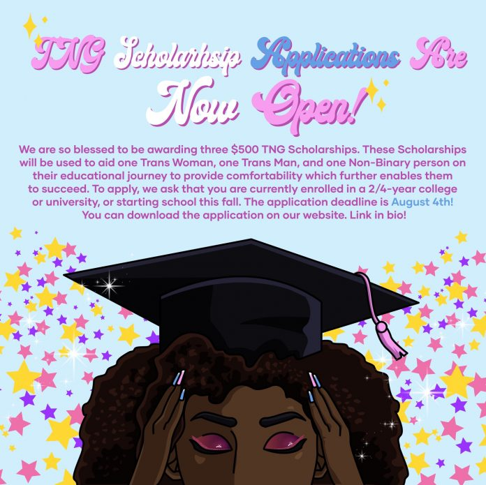 TNG Scholarships 2020 for Trans or Non-Binary Black/Brown Scholars