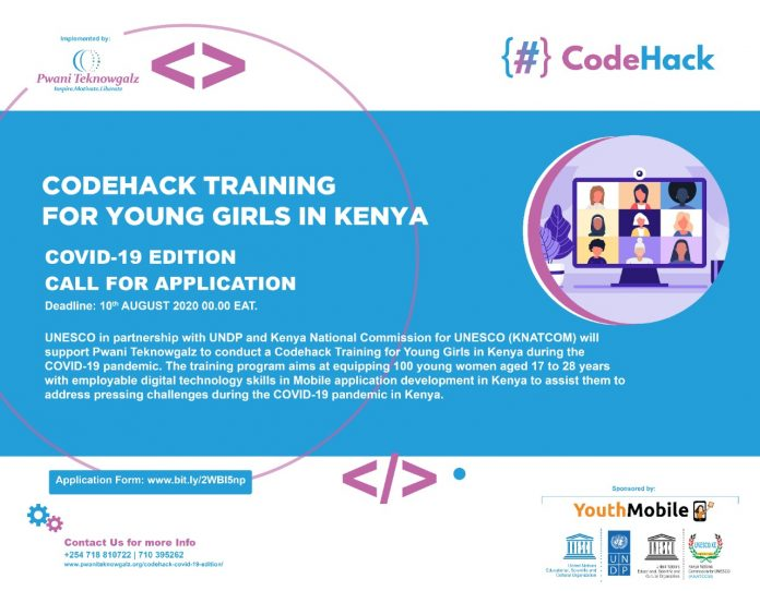 CodeHack Training Application 2020 for Young Girls in Kenya