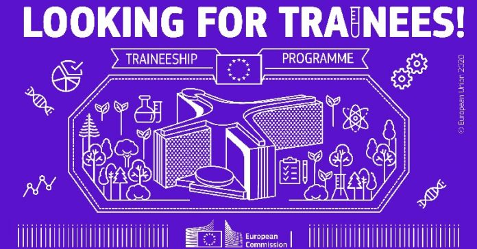 European commission BlueBook Traineeship Application 2020-2021