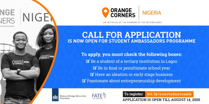 Orange Corners Nigeria Student Ambassadors Program 2020