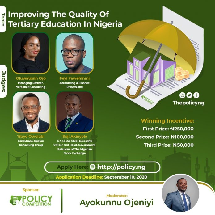 Policy Competition for Nigerian Undergraduate Students 2020