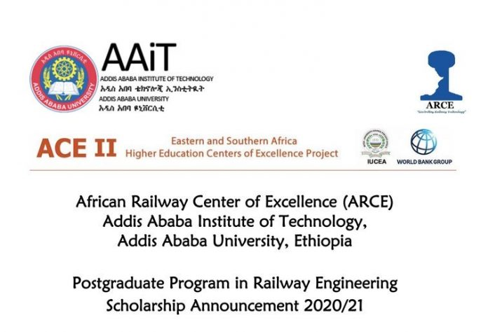 World Bank-ARCE MSc & PhD Scholarships in Railway Engineering for Africans