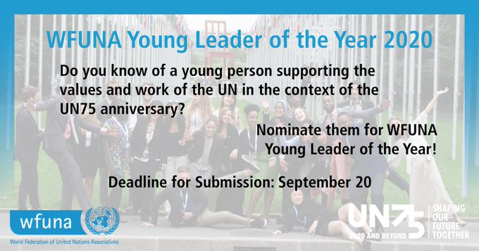 World Federation of United Nations (WFUNA) Young Leader of the Year Award 202