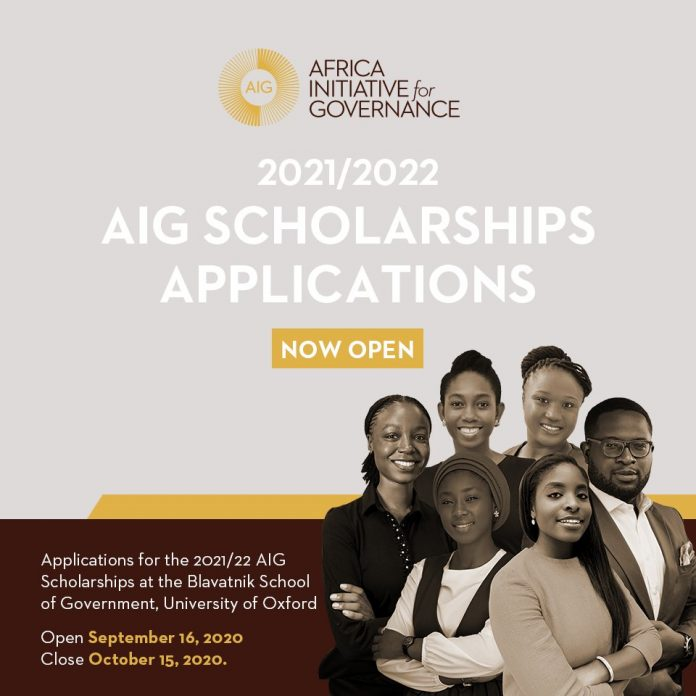 Africa Initiative for Governance (AIG) 2021/22 Scholarships at the University of Oxford