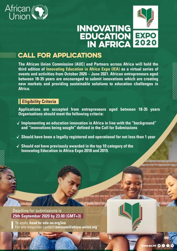 Call for Submission- Innovating Education in Africa Expo 2020