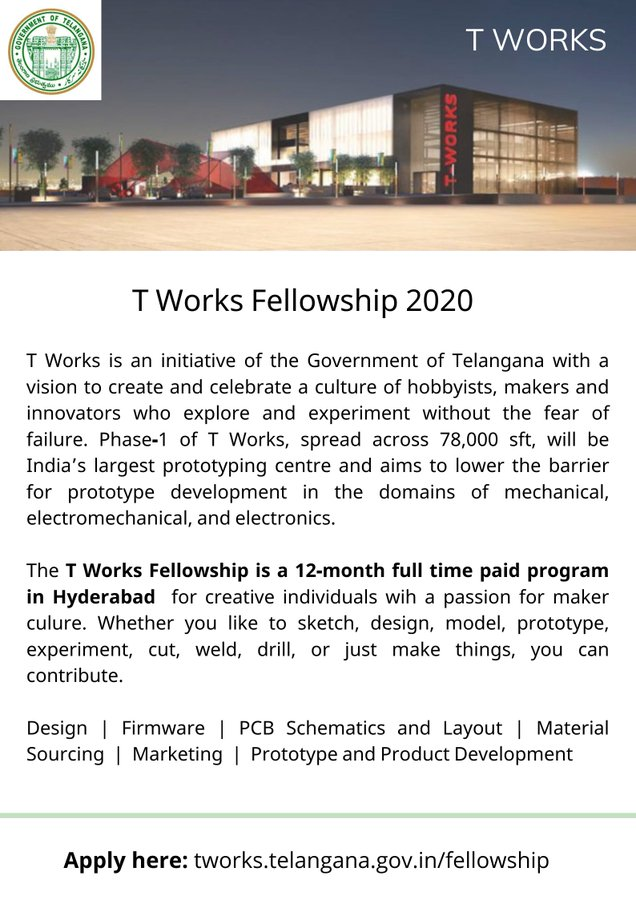 Government of Telangana T Works Fellowship Program 2020