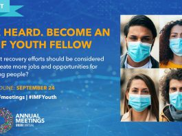 IMF 2020 Annual Meeting Fellowship Program Contest for Youths Worldwide