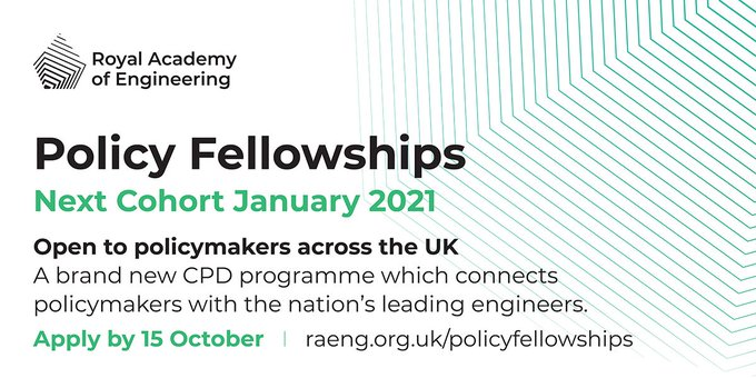 Royal Academy of Engineering Policy Fellowship 2021