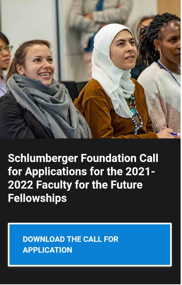 Schlumberger Foundation Faculty for the Future Fellowships Application