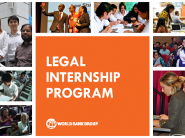 The World Bank Legal Internship Program 2021 for Highly Motivated Law Students