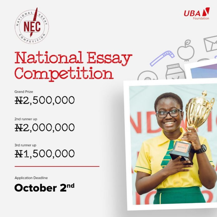 UBA National Essay Competition 2020 Application