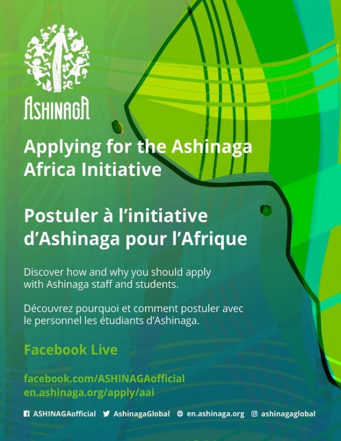 2021 Ashinaga Africa Initiative Young Leaders for Africa Scholarship Program