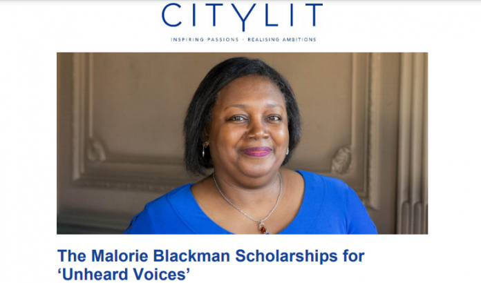City Lit's Malorie Blackman Scholarships 20212022 for Unheard Voices