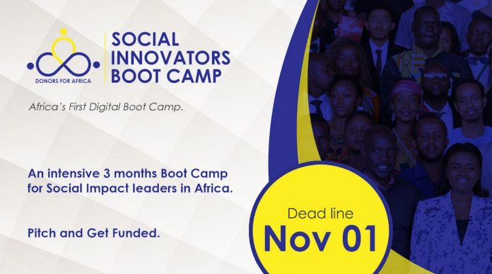 Donors for Africa Social Innovators Bootcamp 2020-2021
