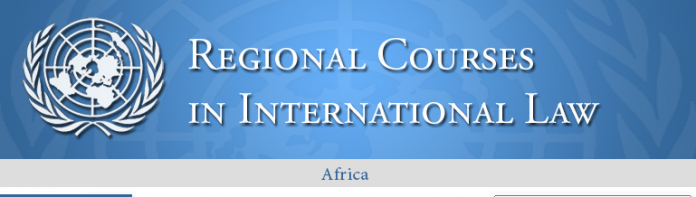 2021 United Nations Regional Course in International Law for Africa