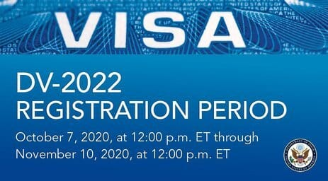 United States Department of State Electronic Diversity Visa Program (DV-2022) For Immigrants