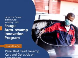 Enugu SME Auto Revamp Innovative Training 2020 Application